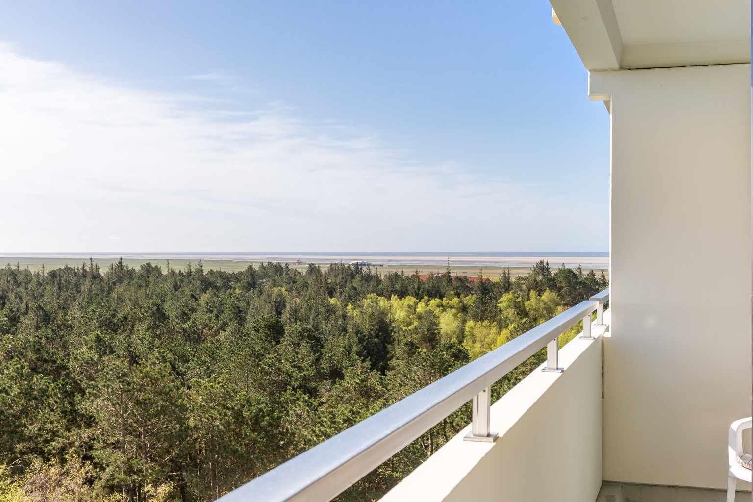 Balkon mit Meerblick - St Peter Ording Bad, Haus Atlantic, Wohnung 148
