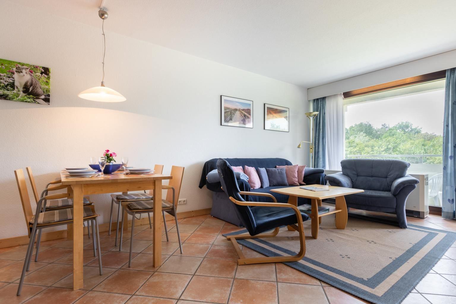 Wohnzimmer, Ferienwohnung 5, St Peter Ording Bad, Haus Atlantic,  Alter Badweg 11-15