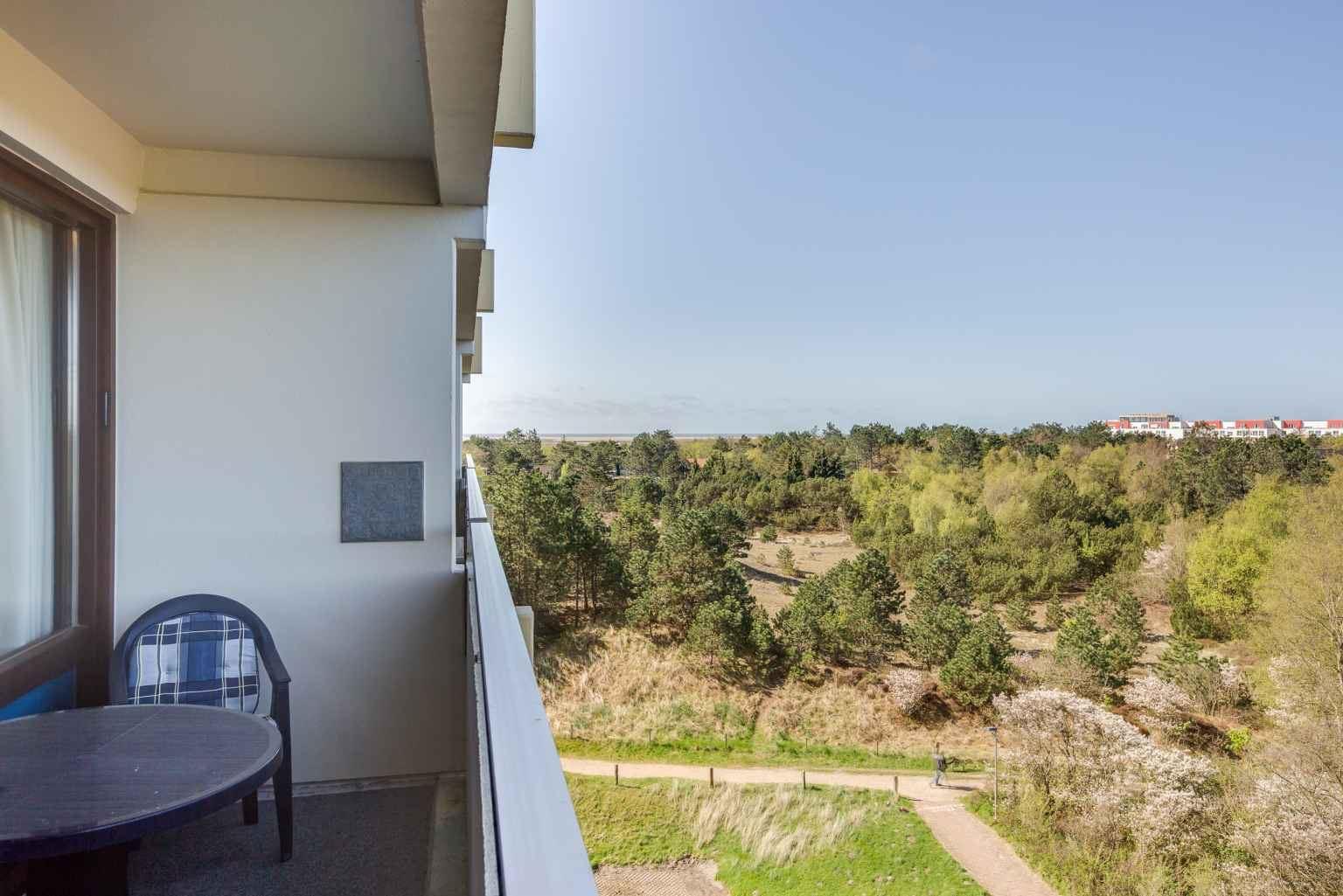 Balkon mit Meerblick, Ferienwohnung Nr. 80, St Peter Ording Bad, Haus Atlantic,  Alter Badweg 11-15