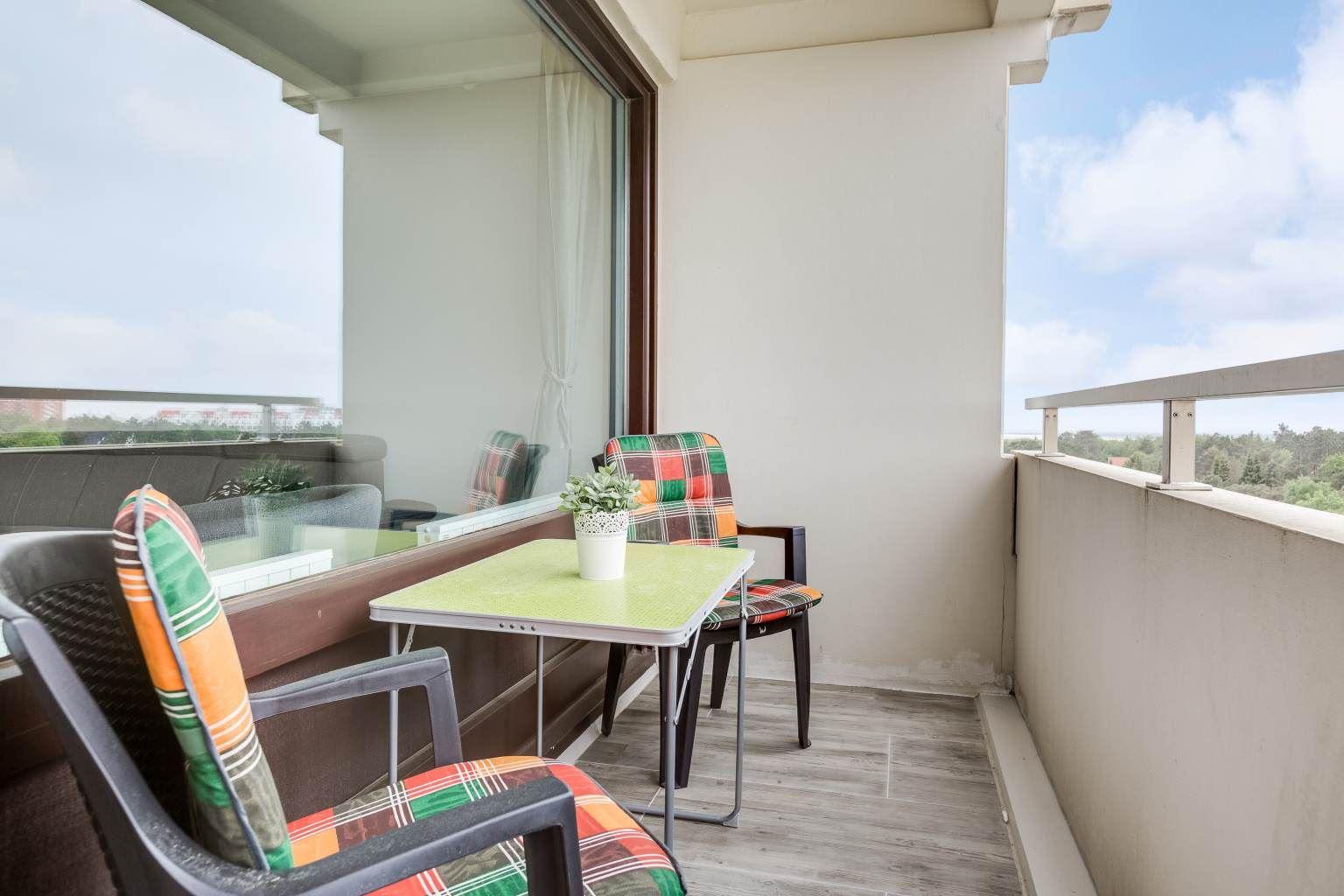 Balkon Haus Atlantic, Wohnung 93, 3-Zimmer-Ferienwohnung für bis zu 4 Personen, Alter Badweg 11-15, St. Peter-Bad