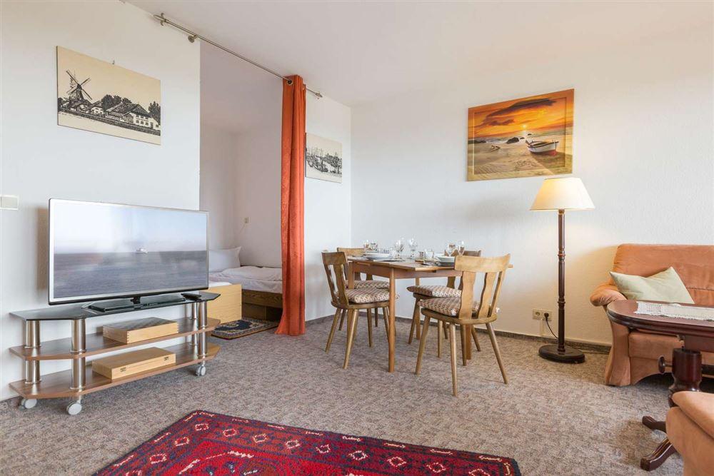 """Wohnzimmer, Ferienwohnung """"92"""", St Peter Ording Bad, Haus Atlantic,  Alter Badweg 11-15"""