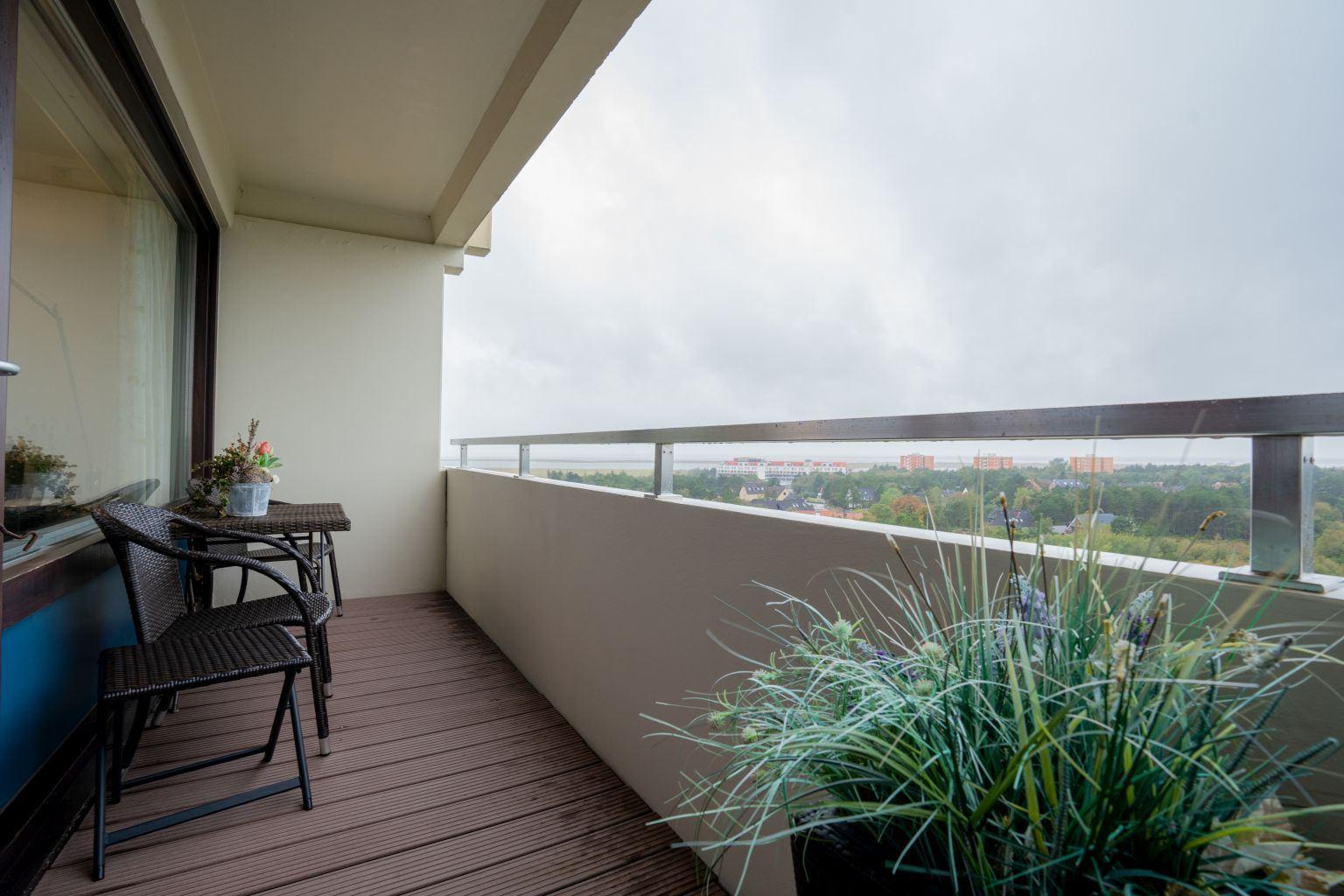 Ausblick vom West-Balkon