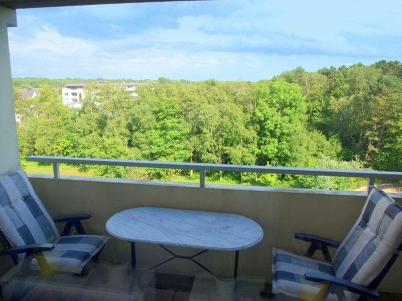 Ausblick (inzwischen neue Möbel, neue Fotos folgen) - Haus Atlantic, Wohnung 260, Alter Badweg 11-15, St. Peter-Bad