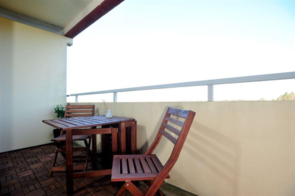 Balkon (mit neuer Möblierung) - Haus Atlantic, Wohnung 260, Alter Badweg 11-15, St. Peter-Bad
