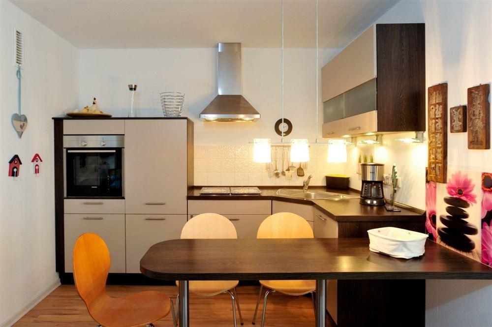 Küche, Ferienwohnung 124, St Peter Ording Bad, Haus Atlantic,  Alter Badweg 11-15