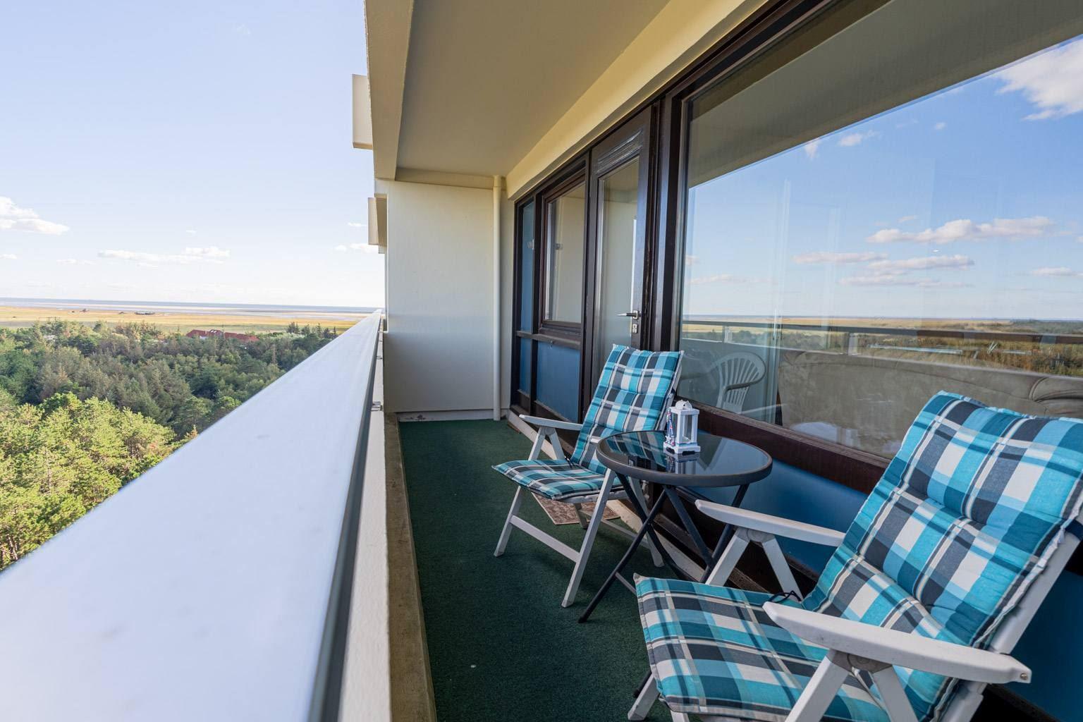 Ausblick vom Südost-Balkon