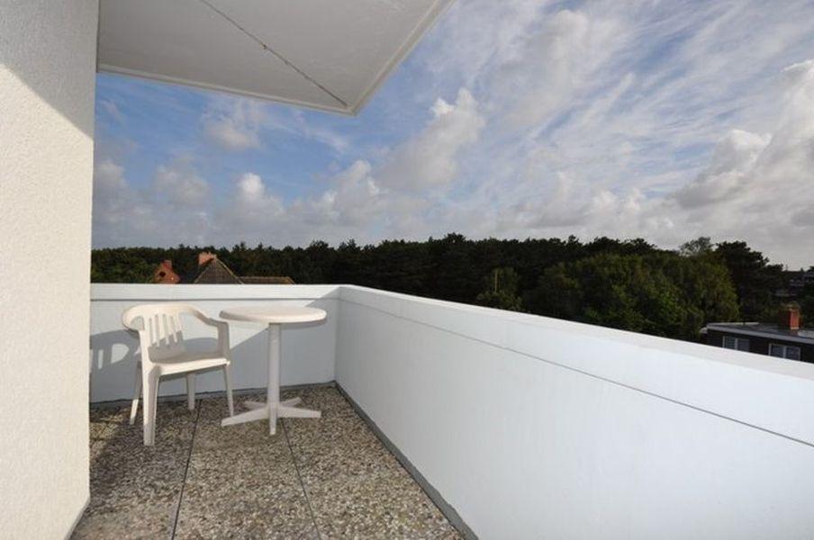 Ausblick vom Balkon - Haus Luv und Lee, Wohnung 28, Im Bad 18, St. Peter-Bad
