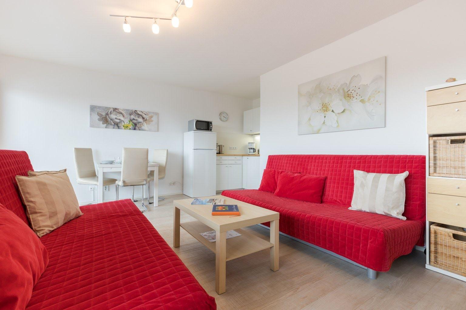 Wohnzimmer - Haus Luv und Lee, Wohnung 28, Im Bad 18, St. Peter-Bad