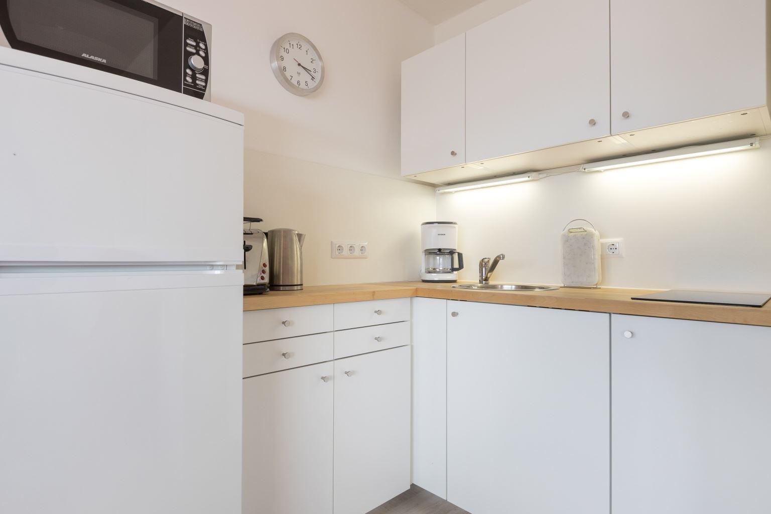 Küche - Haus Luv und Lee, Wohnung 28, Im Bad 18, St. Peter-Bad