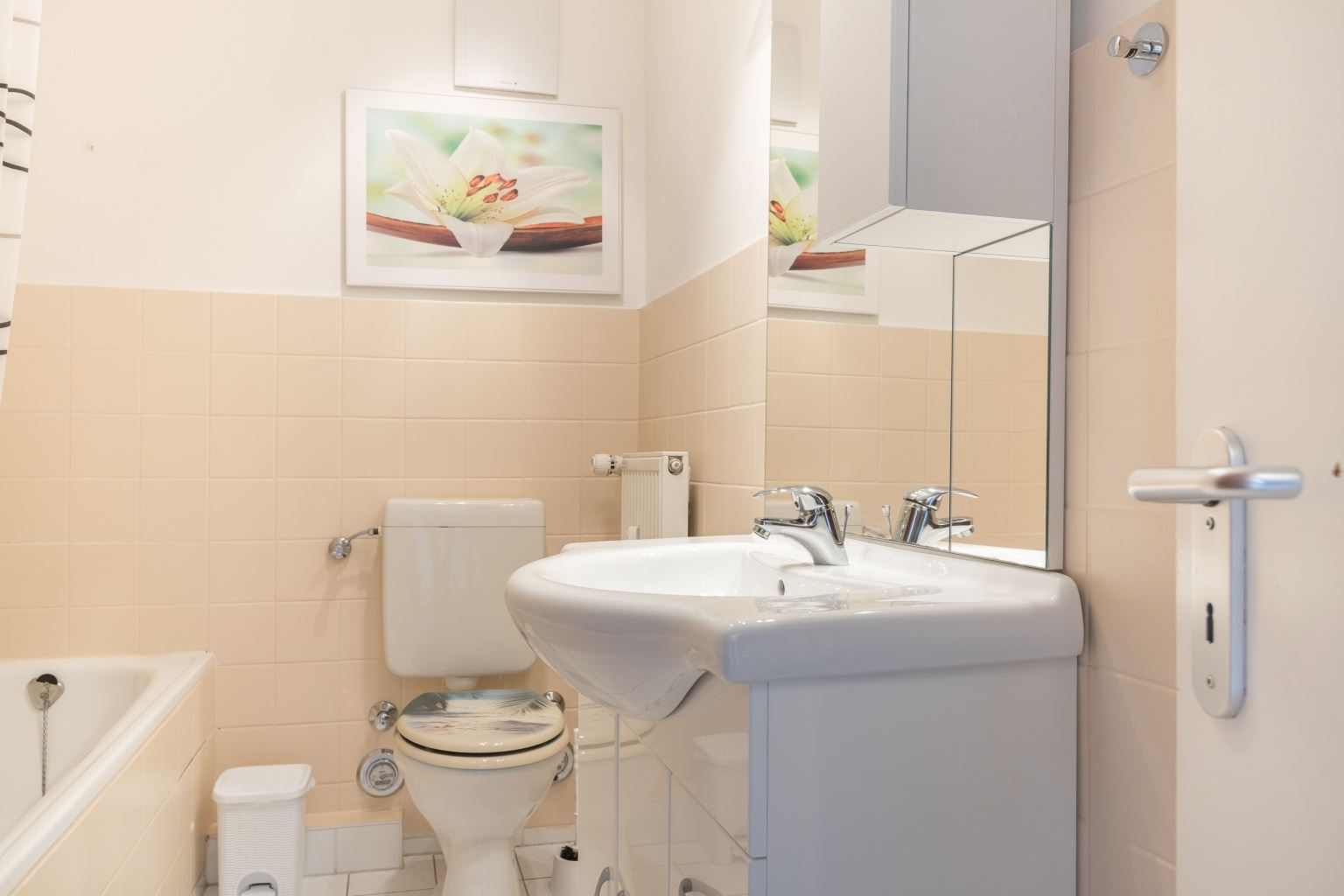 Badezimmer - Haus Luv und Lee, Wohnung 28, Im Bad 18, St. Peter-Bad