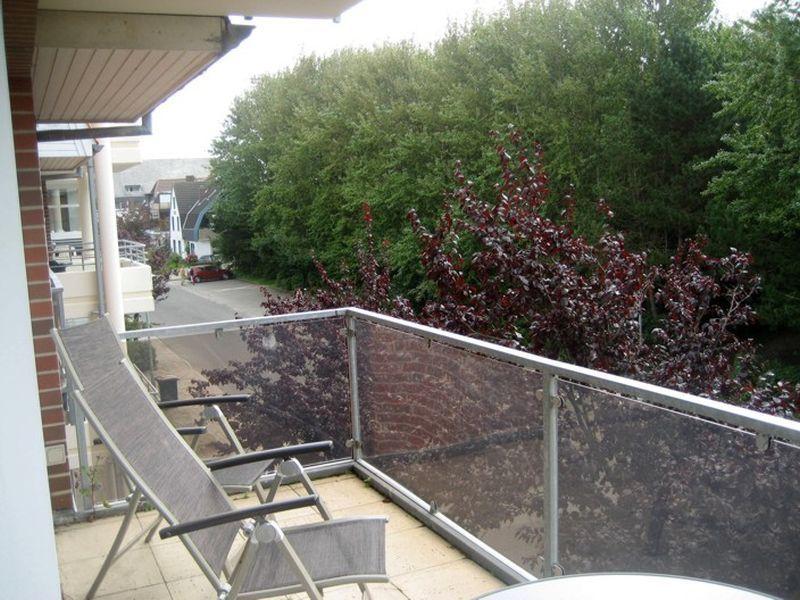 """Ausblick vom Balkon """"Meer und Sonne"""", Strandläuferweg 10, St. Peter-Bad"""