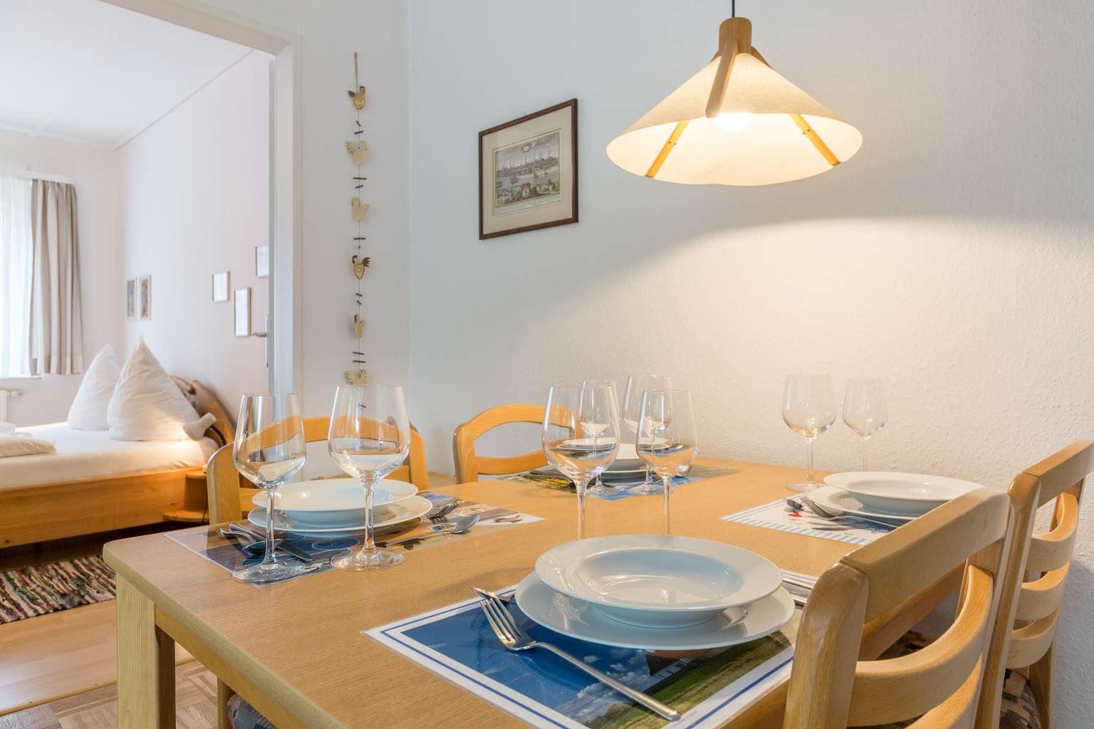 Küche - St Peter Ording Boehl, Haus Kuhsteig 15, Wohnung EG Lebender