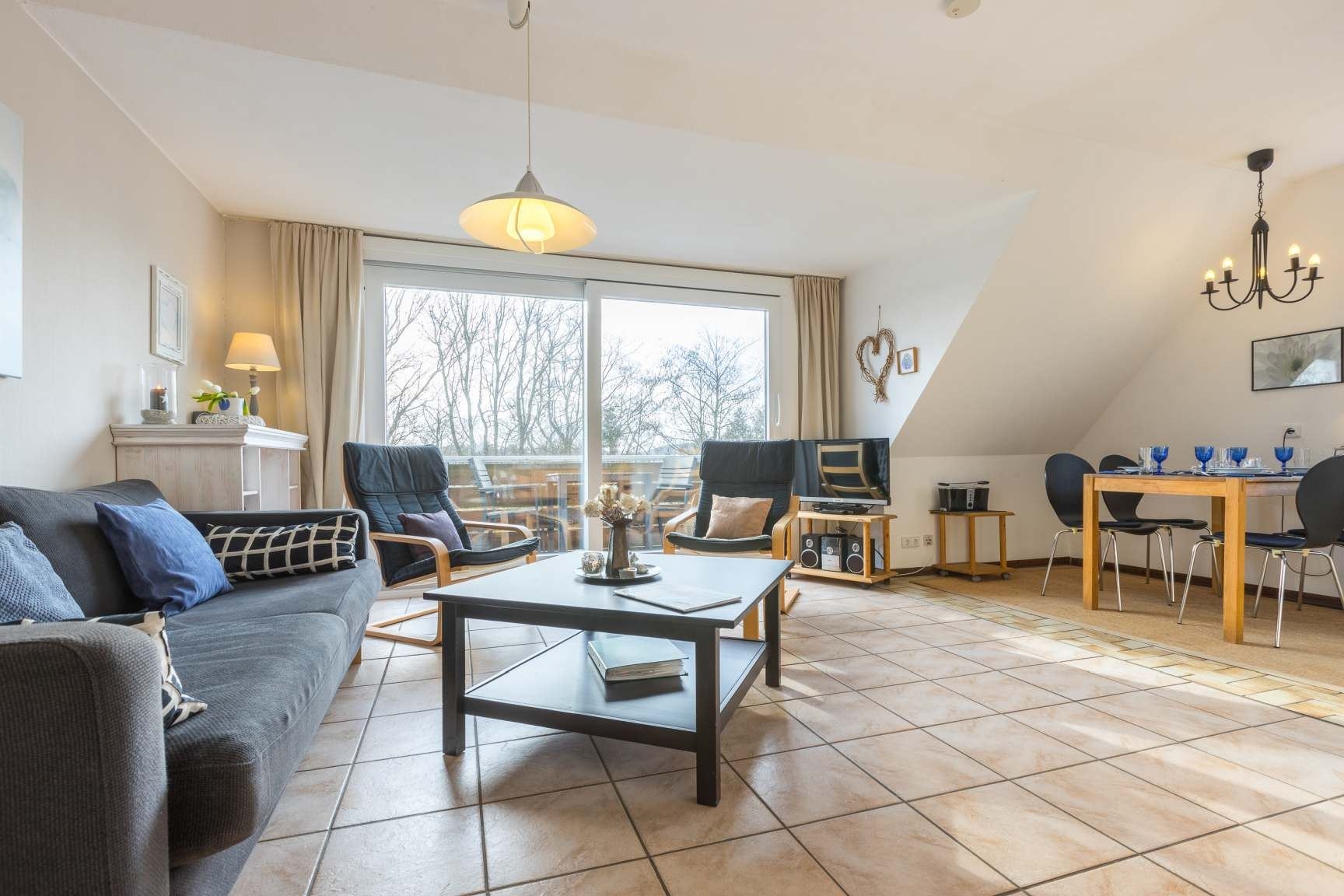 Wohnzimmer - St Peter Ording Dorf, Haus Wogemann, Wohnung 11