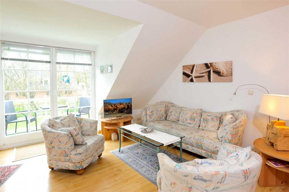 """Wohnzimmer - St Peter Ording Dorf, Haus Feldstrasse 12, Wohnung """"Seebaer"""""""