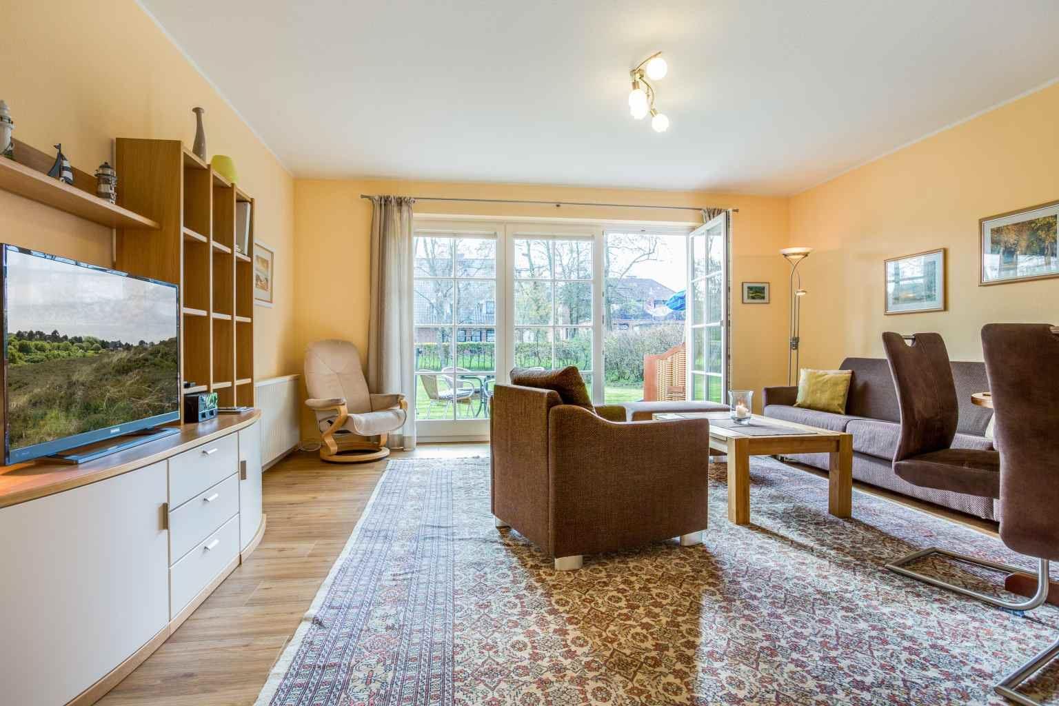 """Wohnzimmer - St Peter Ording Dorf, Haus Feldstrasse 12, Wohnung 1 """"Astrid"""""""