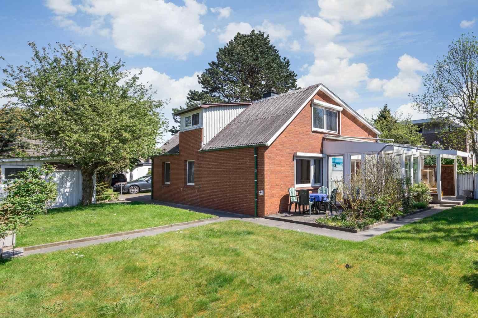 Garten - Haus Sturmmoewe, Wohnung 4, Badallee 27-27a, St. Peter-Dorf
