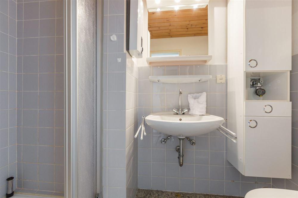 """Badezimmer - Wohnung 45 """"Markwardt"""", 1-Zimmer-Ferienwohnung für bis zu 2 Personen, Fritz-Wischer-Straße 7, St. Peter-Bad, SPO"""