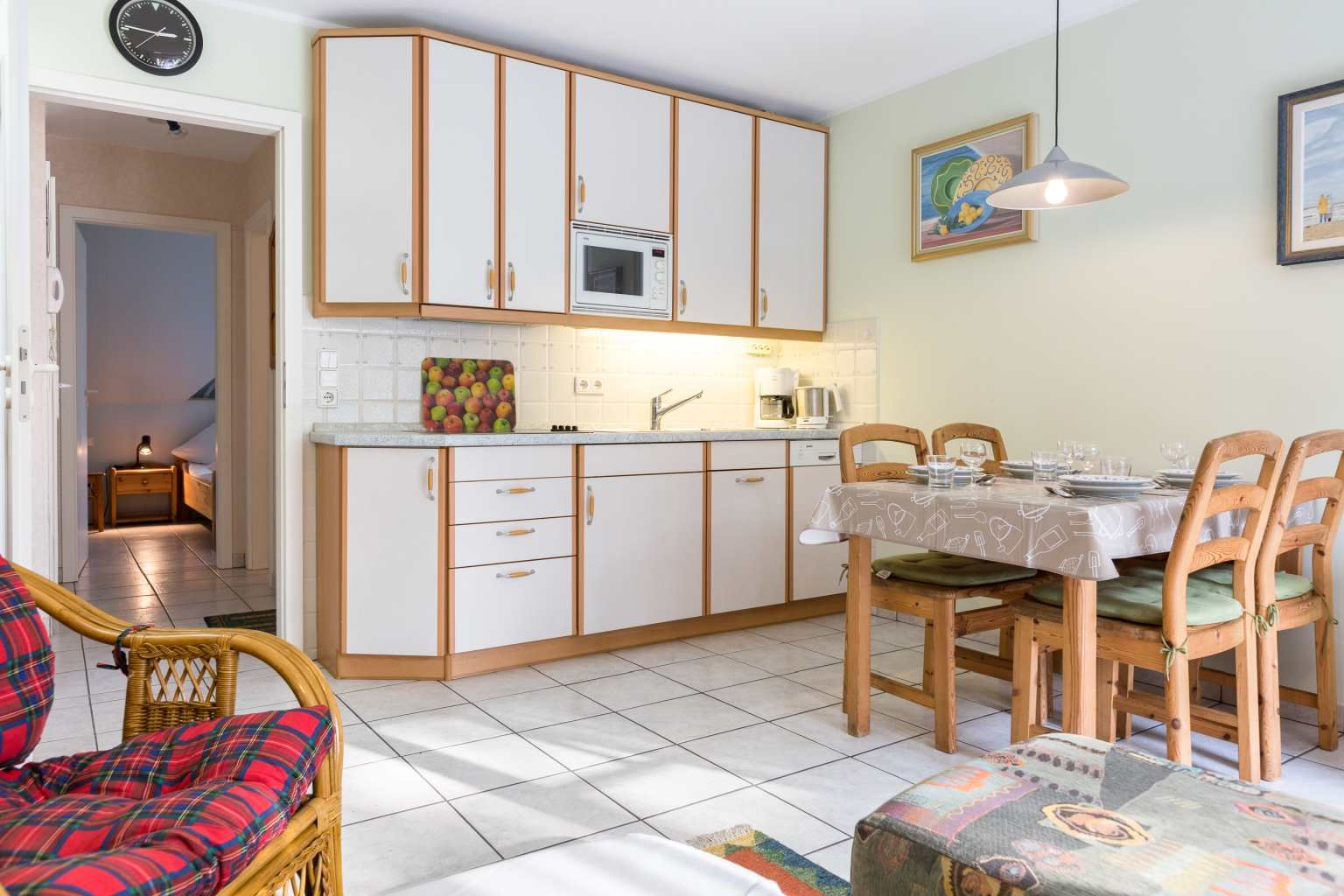 Küche - St Peter Ording Bad, Haus Am Kurwald II, Wohnung 7