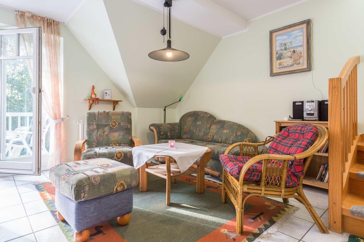 Wohnzimmer - St Peter Ording Bad, Haus Am Kurwald II, Wohnung 7