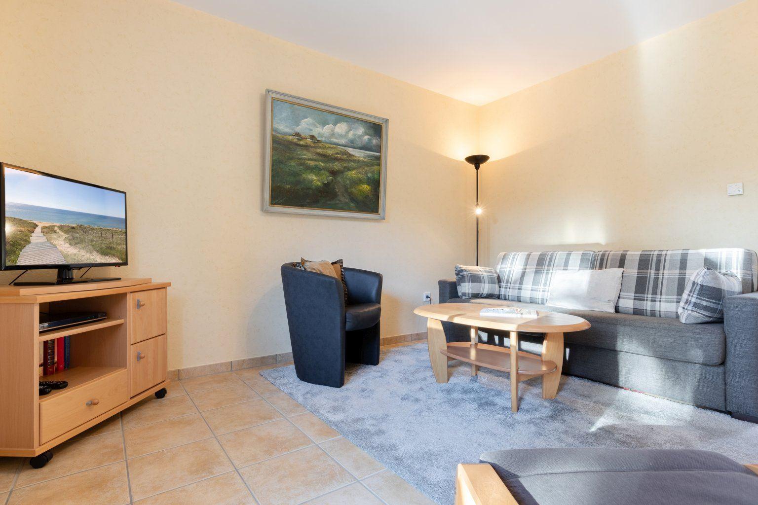 Wohnzimmer - St Peter Ording Dorf, Haus Sandkamp 4, Wohnung 13