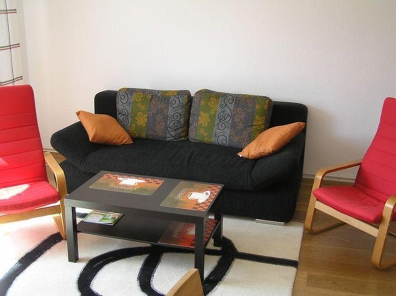 Wohnzimmer 2-Zimmer-Ferienwohnung im Haus Seestern, Fasanenweg 18a, St. Peter-Dorf