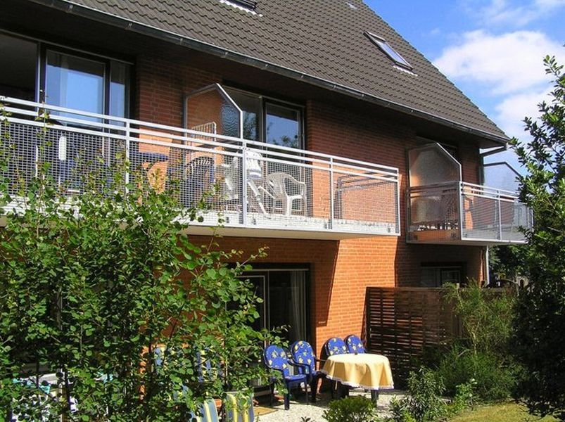 "Balkon - St Peter Ording Bad, Haus Alter Badweg 3, Wohnung ""Brigitte"""