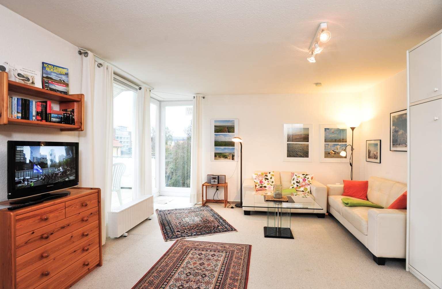 Wohnanlage Blanker Hans II, Wohnung 11 Seebrueckenblick, Blanker-Hans-Weg 5, St. Peter-Bad - Wohnzimmer