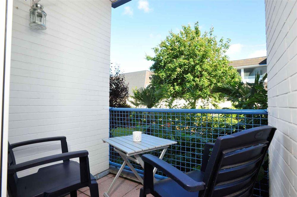 """Balkon zum Innenhof Haus """"Residenz im Bad"""", Ferien-Wohnung 4 """"Seebrise"""" - Im Bad 22-24, St. Peter-Bad, SPO"""
