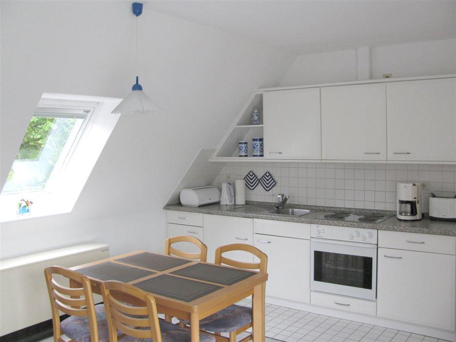 Küche - Haus Wattwurm, Wohnung 6, 2-Zimmer-Ferienwohnung, Waldstraße 17a, St. Peter-Ording