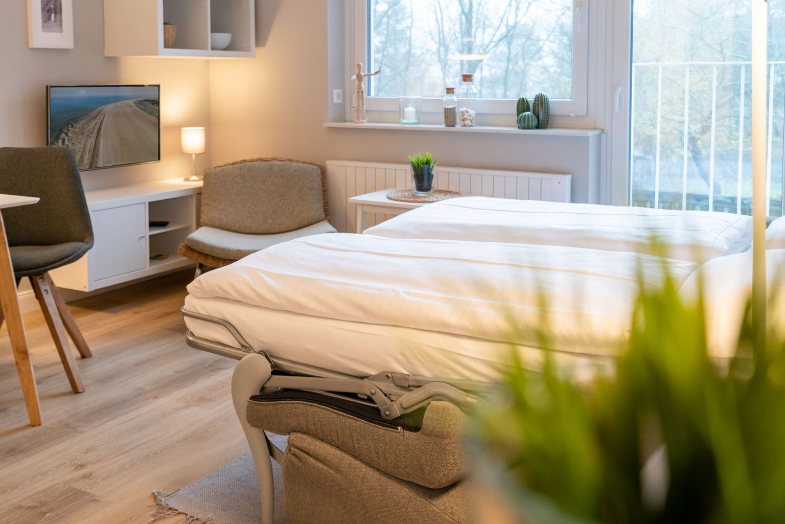 Wohnzimmer - St Peter Ording Bad, Haus Fritz Wischer Strasse 5, Wohnung 6
