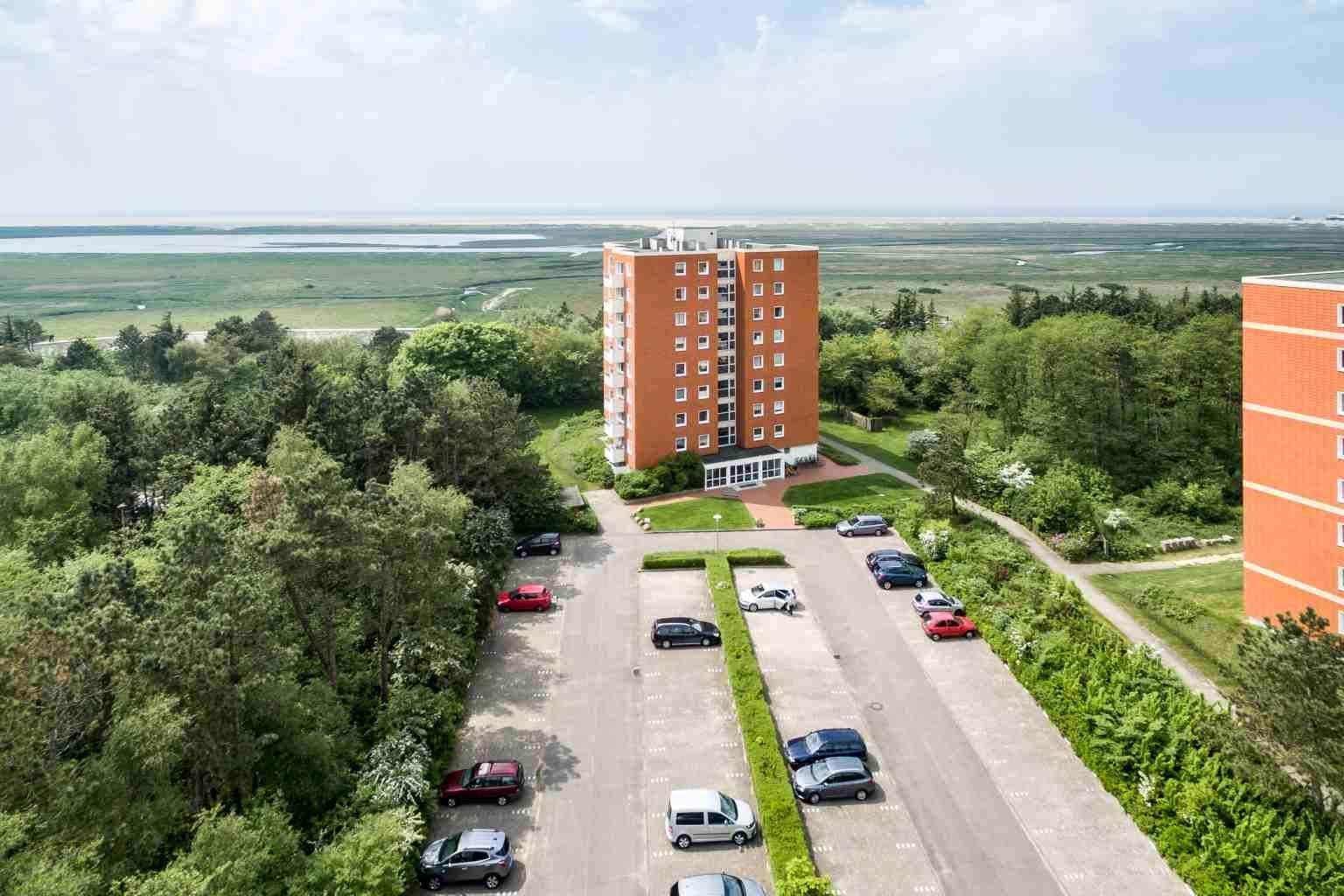 Aussenansicht mit Meerespanorama - St Peter Ording Bad, Haus Fritz Wischer Strasse 5, Wohnung 6