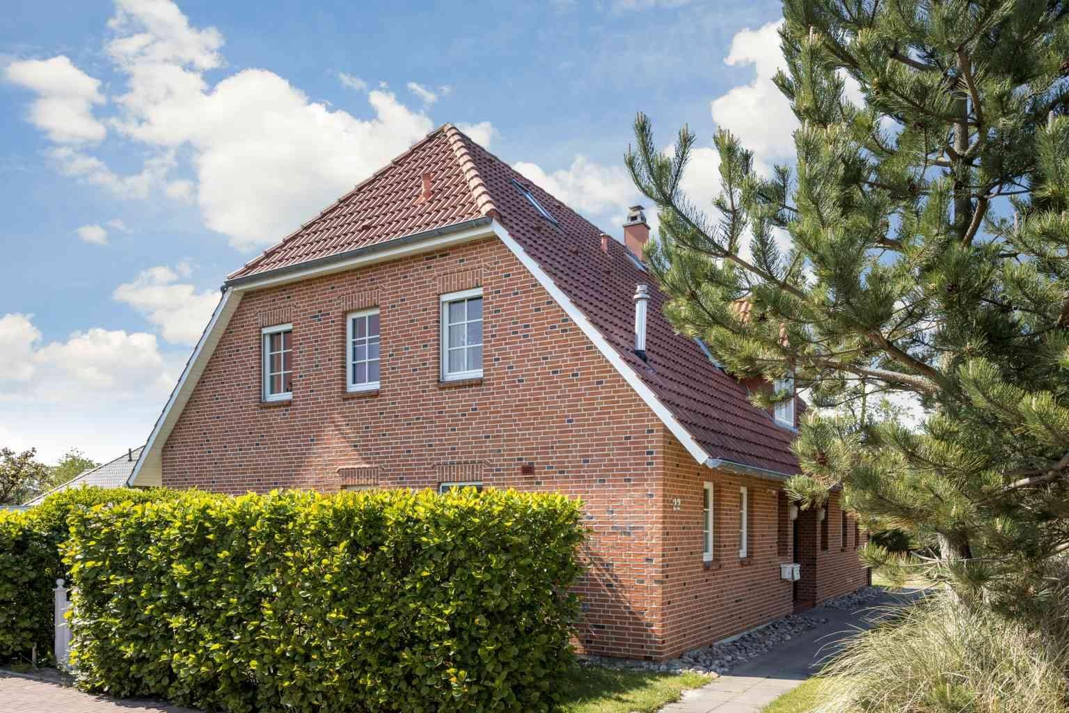 "Nordostansicht - St Peter Ording Dorf, Haus Ostlandstrasse 22, Hausteil ""Ringelsocke"""