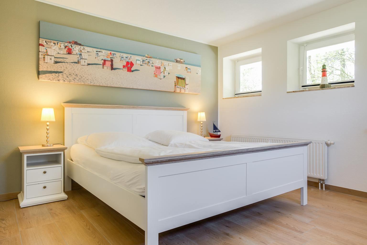 """1. Schlafzimmer - St Peter Ording Bad, Haus Duenen un Diek, Wohnung 4 """"Ahoi"""""""
