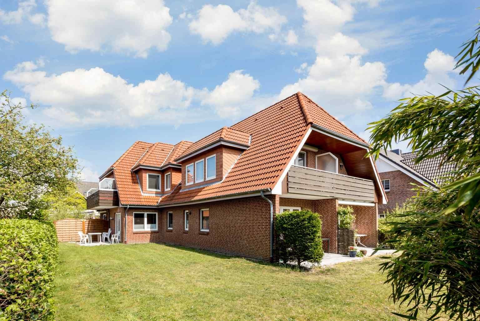 "Rückwärtige Ansicht - St Peter Ording Dorf, Haus Duenenblick, Wohnung 1 ""Sonnenblick"""