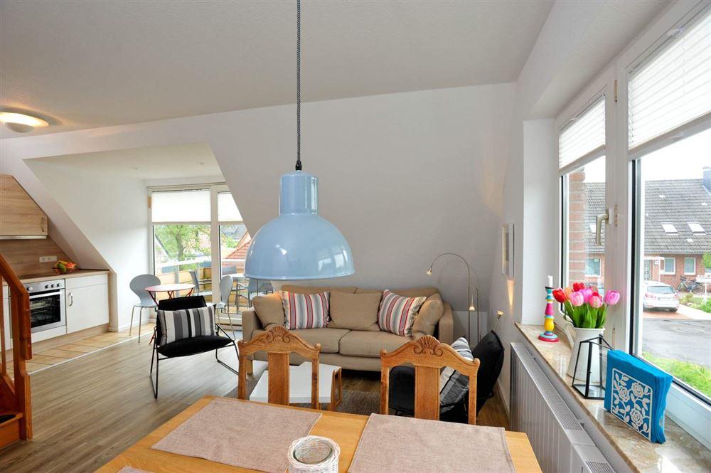 """Wohnzimmer - St Peter Ording Dorf, Haus Fasanenweg 12, Wohnung 4 """"Timm"""""""