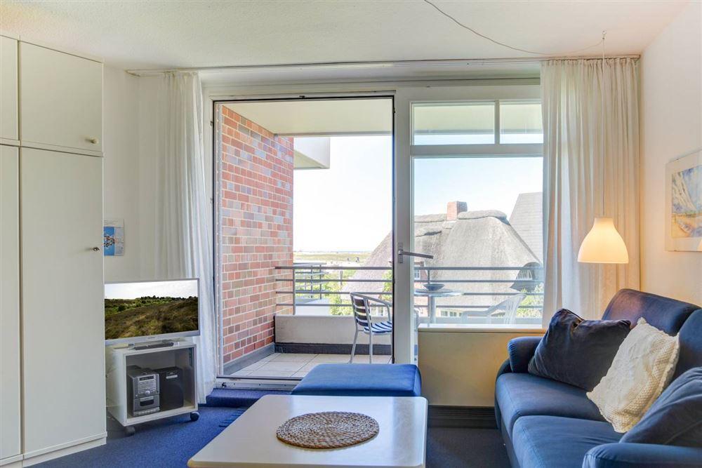 """Wohnzimmer Haus Quisana SPO, Wohnung 13 """"Wattläufer"""" , Strandpromenade 5-7, St. Peter-Bad"""