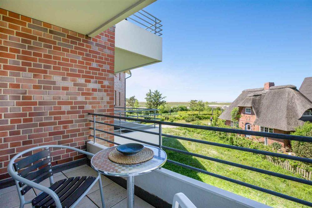 "Balkon mit Meeresblick Haus Quisana SPO, Wohnung 13 ""Wattläufer"" , Strandpromenade 5-7, St. Peter-Bad"
