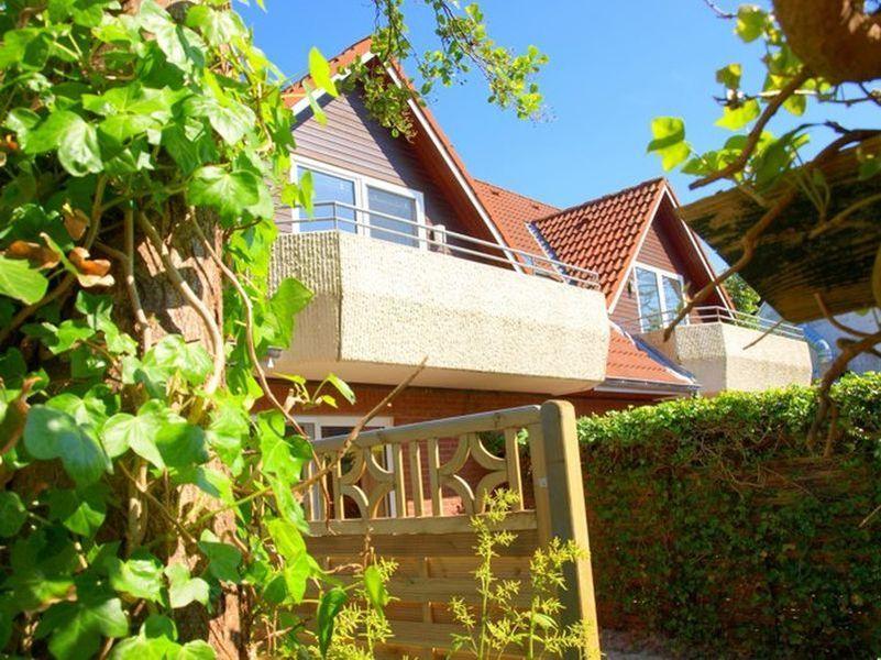 Terrassse - St Peter Ording Dorf, Haus Badallee 28a, Wohnung Schwalbennest 2 (EG hinten)