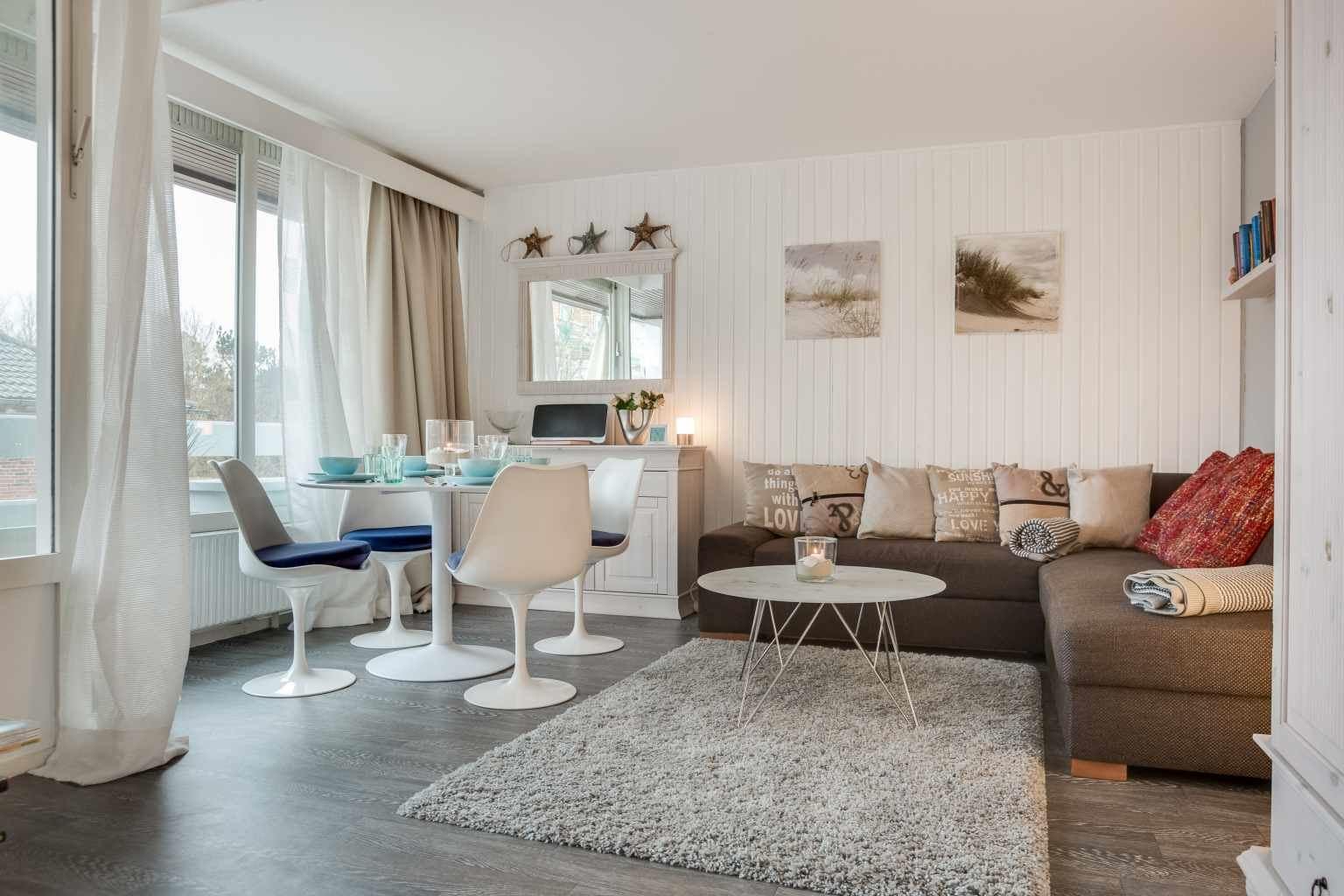 Wohnzimmer - Haus Loreley, Wohnung 26, Im Bad 37, St. Peter-Bad