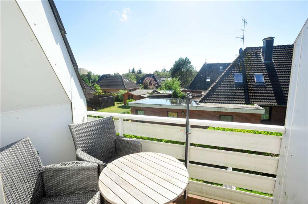 Balkon nach Südwesten - Haus Austernfischer, Wohnung 4, Klaus-Groth-Weg 26, St. Peter-Bad