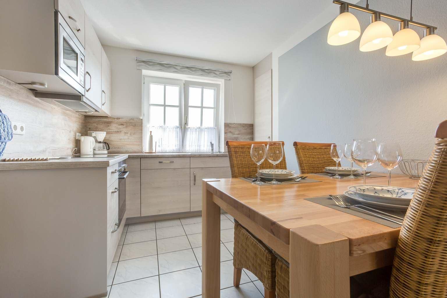 Essbereich und Küche Haus Paulsen, Zum Südstrand 12, St. Peter-Dorf