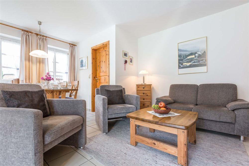 Wohnzimmer - Wohnung Seebuell, Achter de Dünen 2, St. Peter-Bad