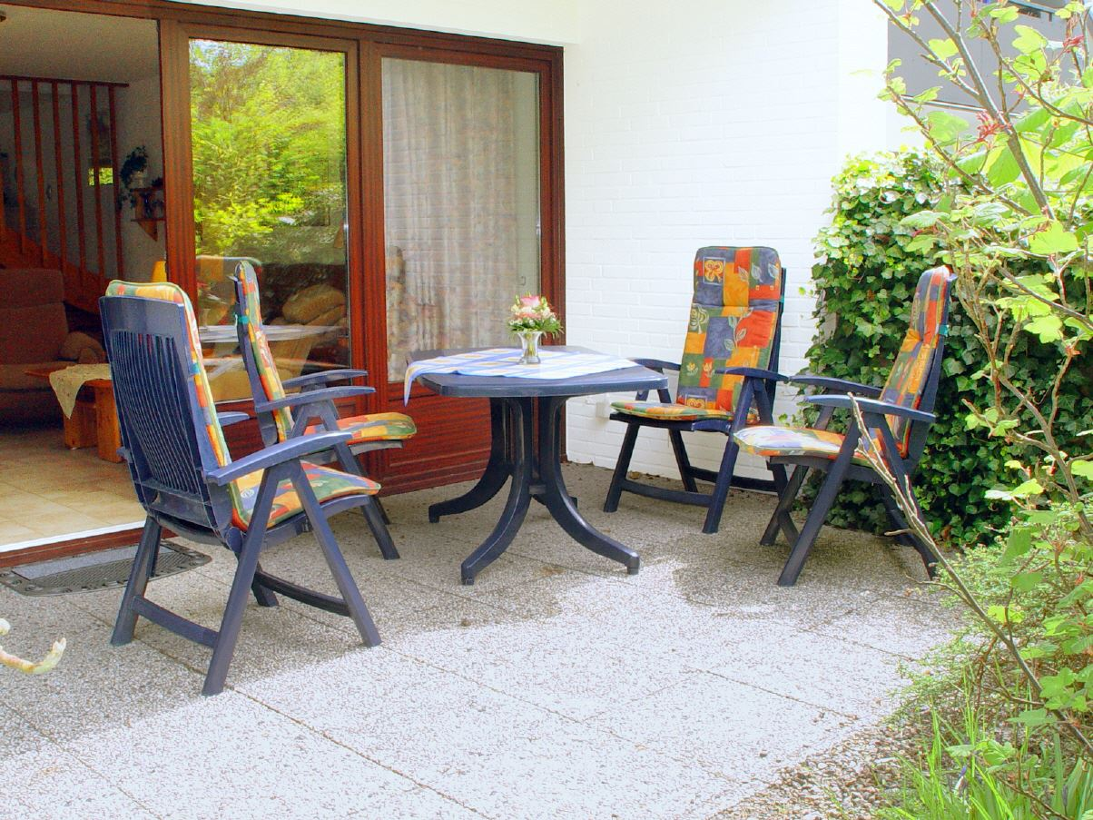 "Terrasse - St Peter Ording Dorf, Ferienhaus Groener Weg 9, Hausteil 3 ""Hartmann"""