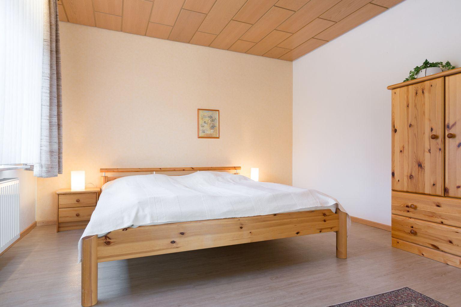 halboffenes Schlafzimmer