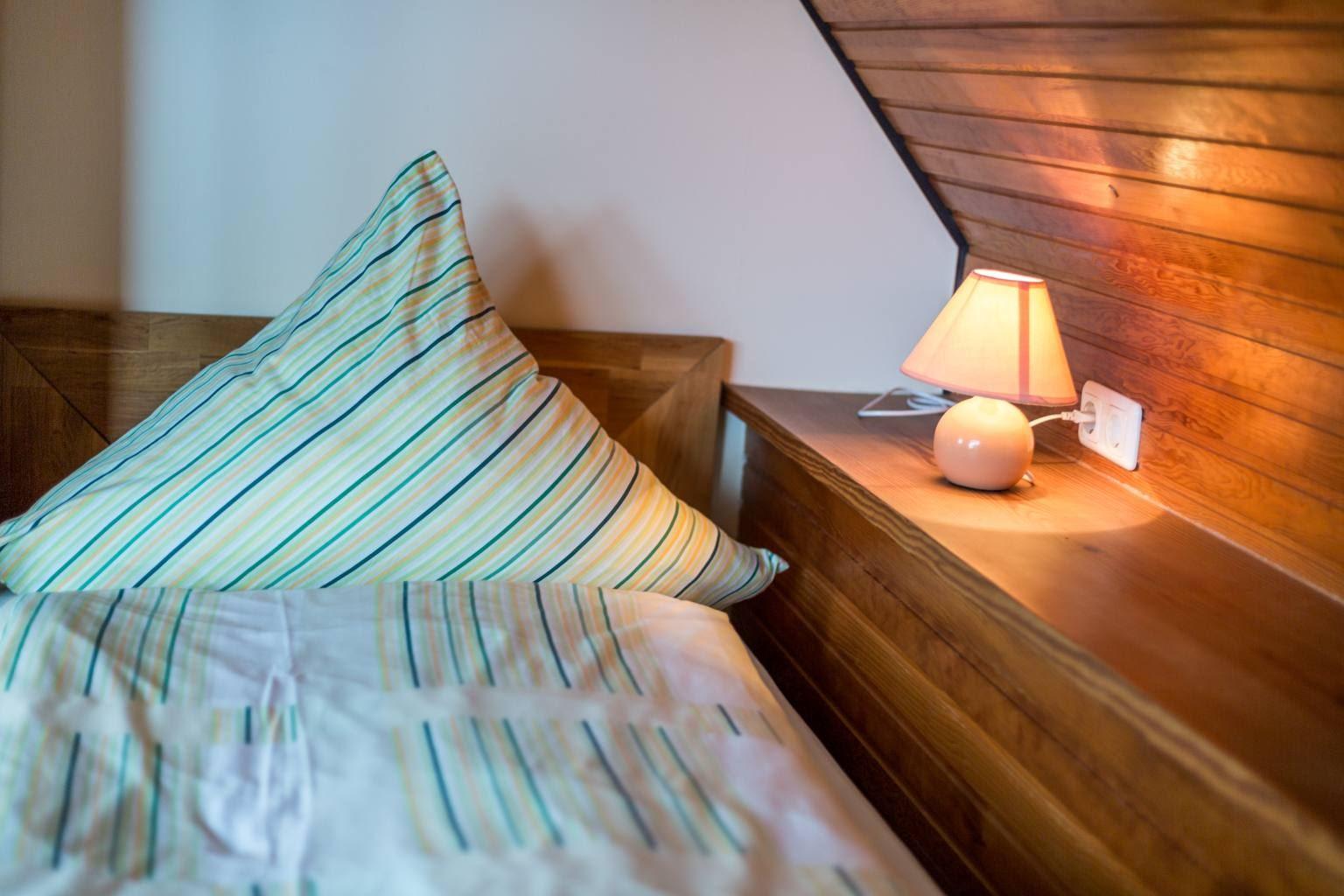 Schlafbereich mit alkovenartigen Betten