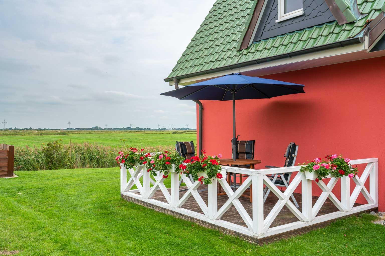 Haus Margarete -Wohnung OG - Gartenterrasse mit Ausblick