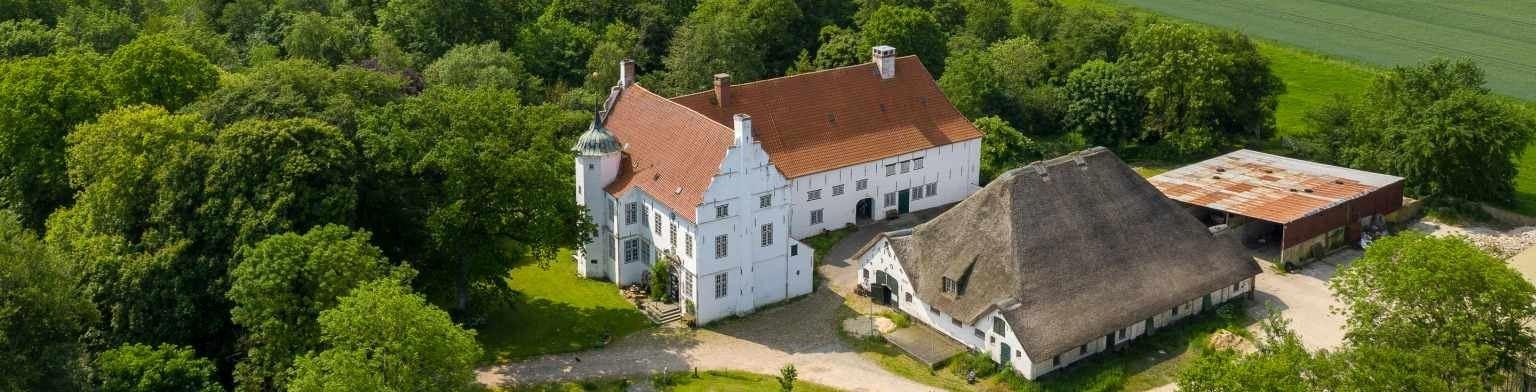 Luftbild Herrenhaus Hoyerswort