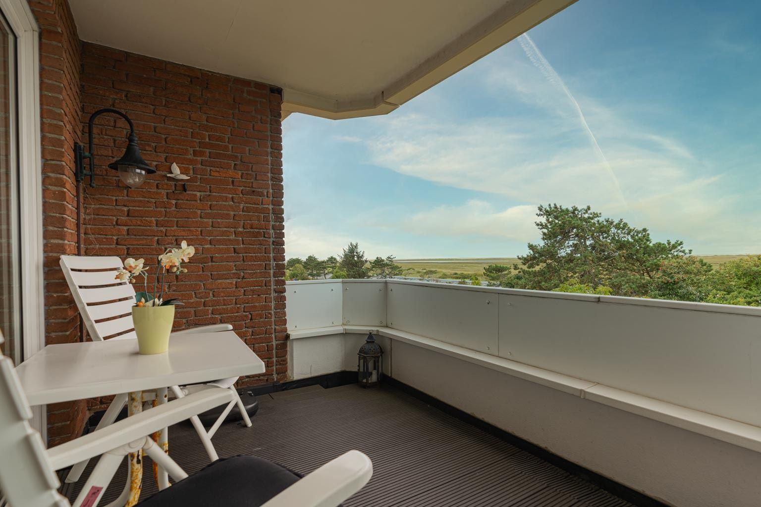 Südwest-Balkon mit Panorama-Meerblick
